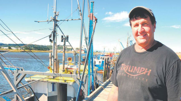 Skipper Mark Thomas with vessel the Wendy J (NZ Herald-supplied)
