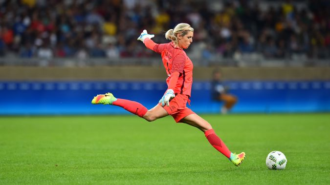 Goalkeeper Erin Nayler will get her 50th cap for the Football Ferns on Wednesday (Photosport)