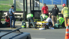 Watch: Harrowing aftermath of crash outside Auckland school