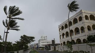 Hurricane Maria moves towards Puerto Rico