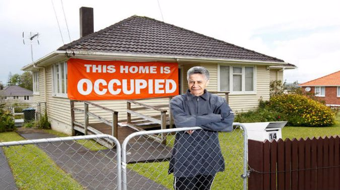 Niki Rauti outside the state house in Glen Innes where she has lived for over 20 years (NZ Herald)