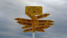 Tourist calls bluff on famous signpost