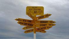 Tourist calls bluff on famous signpost