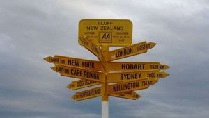 The famous signpost at Bluff has been proven to be wrong (NZ Herald)