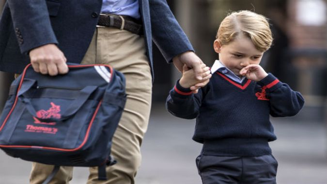Prince George of Cambridge arrives for his first day of school (Photo \ Getty Images)