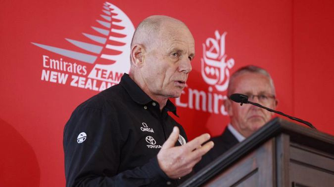 Emirates Team New Zealand CEO Grant Dalton announces new Americas Cup protocol. (Photo / Nick Reed)