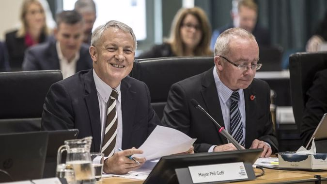 Auckland Mayor Phil Goff (left) and council chief executive Stephen Town(right) are seeking assurances about a $405,000 severance payment.