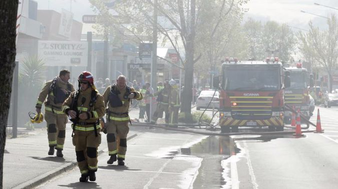 The scene in Hastings this afternoon. (Photo \ NZ Herald)