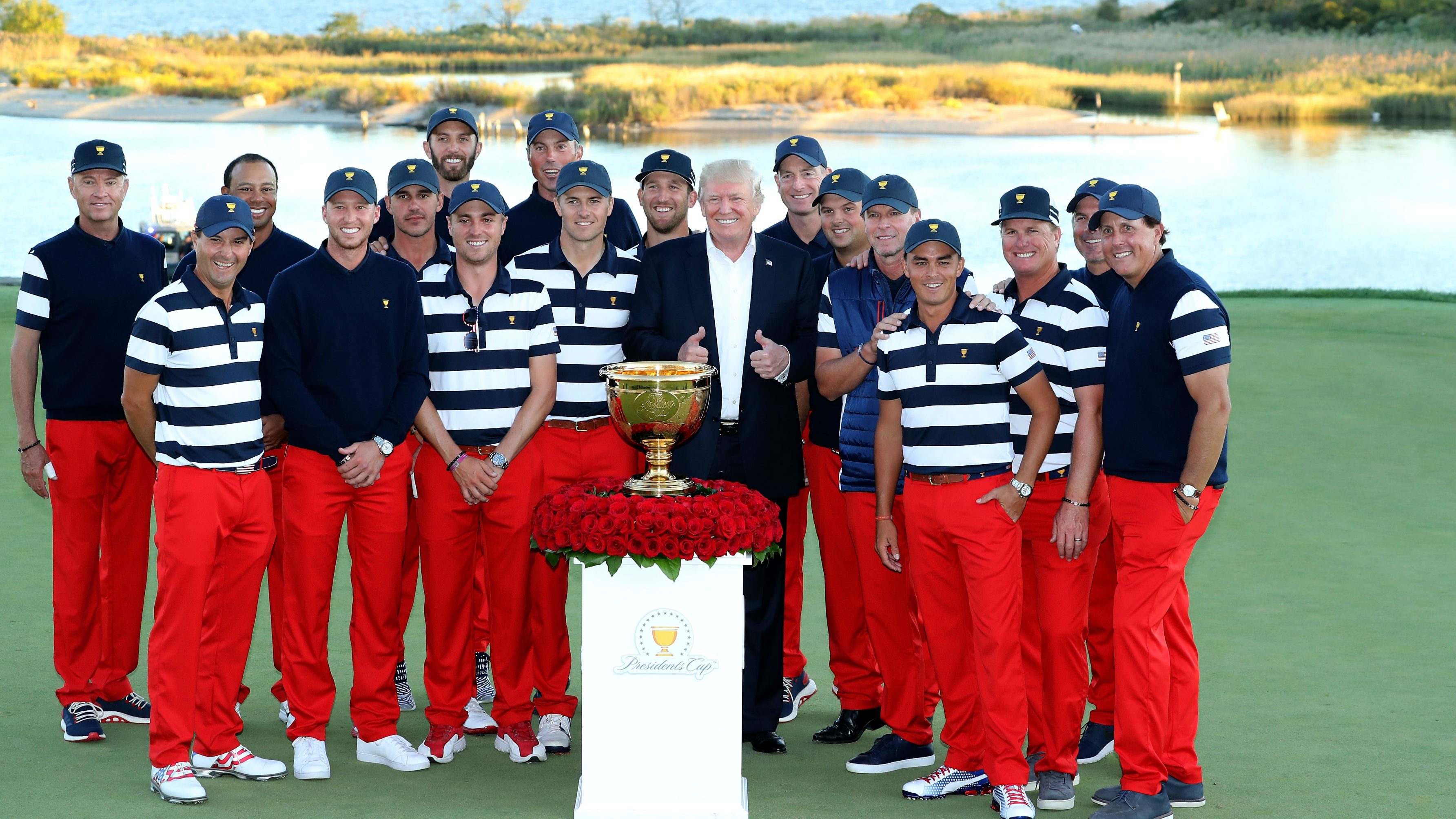 Sunday's golf: USA wins 7th straight Presidents Cup