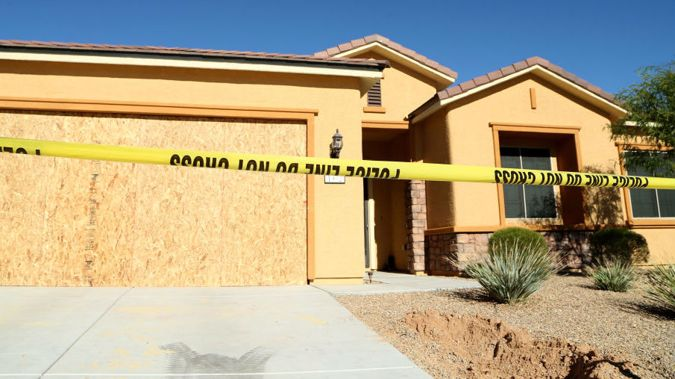 Stephen Paddock's house in Mesquite, Nevada. (Photo \ Getty Images)