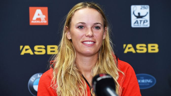 Caroline Wozniacki's return to Auckland's tournament means Sloane Stephens may be forced out. (Photo \ Photosport)