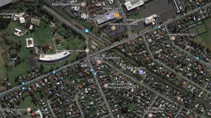 The driver was stabbed while working the 361 route for Murphy Buses on Browns Rd in Manurewa yesterday evening. (Photo / Google Maps)