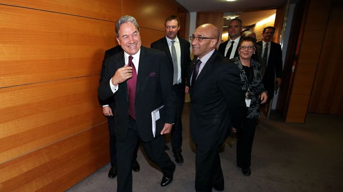 Winston and his NZ First colleagues (Getty Images)