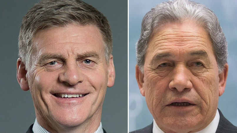 NZ First leader Winston Peters has wrapped a morning meeting with National - saying 'huge progress' is being made.