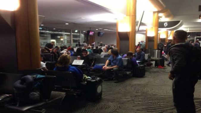 All international flights out of Auckland Airport have been grounded, after a power outage affected the body scanner. (Photo: Susan Potter/NZ Herald)