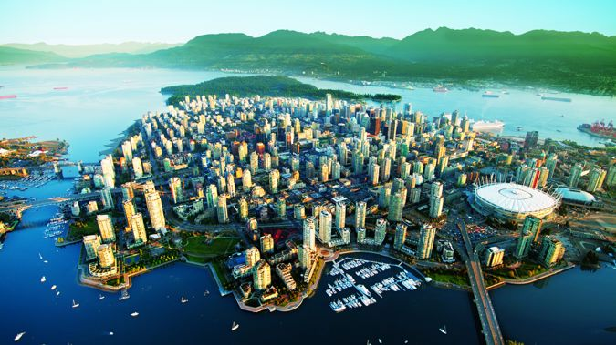 Vancouver from above (Image / Tourism Vancouver)
