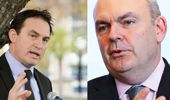 Stuart Nash and Steven Joyce speak with Mike Hosking. (Photo \ Hawkes Bay Today)