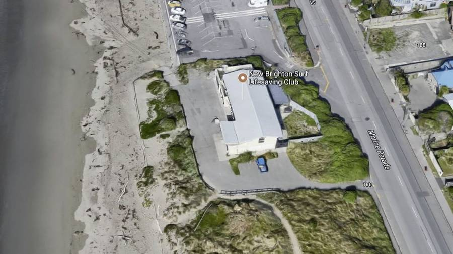 The man raped the woman on the roof of the New Brighton Surf Club. (Photo / Google)
