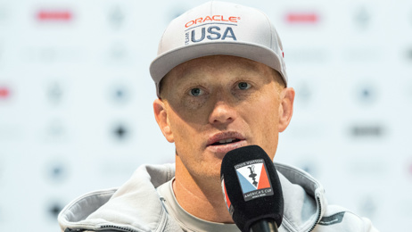Jimmy Spithill's back on New Zealand waters