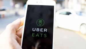 Uber Eats service via mobile phones (Picture \ Getty Images)