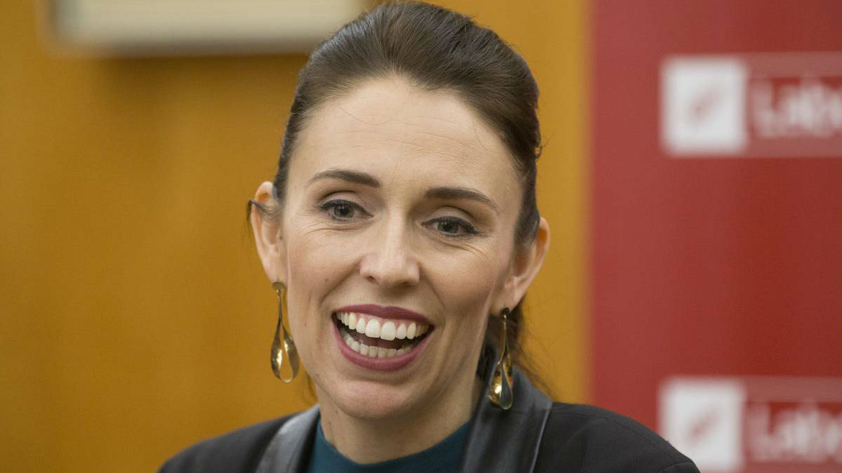 Prime Minister Jacinda Ardern at the swearing-in ceremony. Photo/Getty