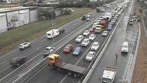 Truck blocked all three lanes on Southern Motorway