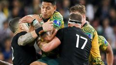 The All Blacks will play the Wallabies in Japan next year. (Photo \ Getty Images)