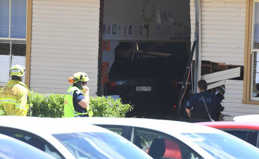 Two children have died after a car crashed into a Syndey primary school. Photo / AAP