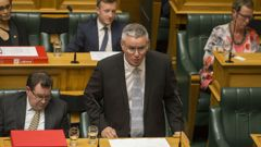 Acting Prime Minister, Kelvin Davis got a bollocking from Opposition leader Bill English over a lack of detail around how the Labour-led Government will build its promised 100,000 homes. (Photo \ NZ Herald)
