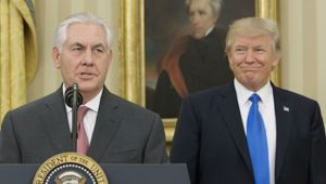 US Secretary of State Rex Tillerson and US President Donald Trump (Photo / Getty Images)