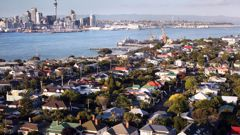 View of housing and Auckland City from Mt Victoria in Devonport. (Photo / Doug Sherring)