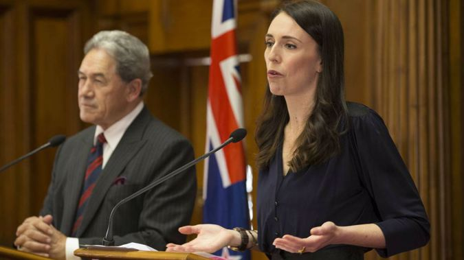 Deputy Prime Minister Winston Peters and Prime Minister Jacinda Ardern. Photo/NZ Herald