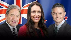 Prime Minister Jacinda Ardern, Deputy Winston Peters and Green Party leader James Shaw. Photo/NZ Herald