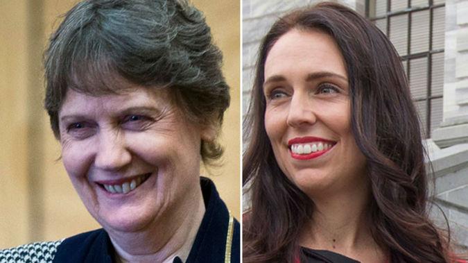 Helen Clark and her former staffer turned successor Jacinda Ardern. Photo/NZ Herald