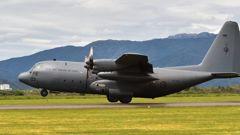 An RNZAF Hercules spotted the troubled skipper in waters 160 kilometres east of Norfolk Island. (Photo / NZ Herald)