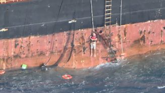 Stricken yachtsman plucked to safety in dramatic rescue
