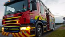 Woolston property goes up in flames overnight