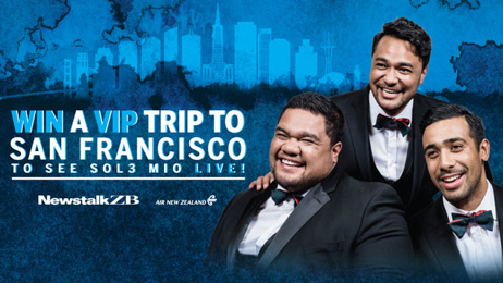 Listen as ZB listener Natalie finds out she's seeing Sol3 Mio in San Francisco