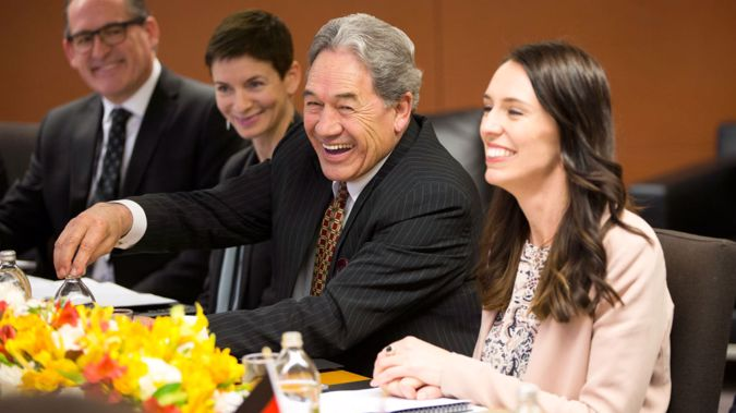 Winston Peters confessed to the existence of then-38 page coalition document. (Photo \ Getty Images)