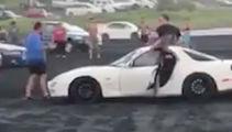 GRAPHIC: Boy racers run over man on Karioitahi Beach