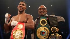 IBF and WBA world champion Anthony Joshua is eyeing up a title fight against WBO champ Joseph Parker. (Photo \ Getty Images)