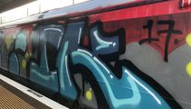 Auckland trains targetted by taggers again