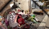 Memorials dedicated to the victims of the CTV collapse, left at the site of the building (Getty Images)