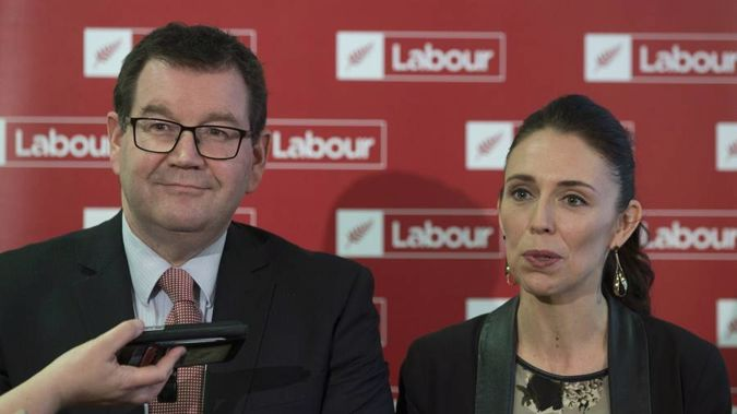 Finance Minister Grant Robertson with leader Jacinda Ardern (Mark Mitchell)