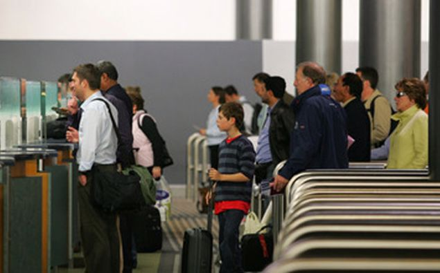 Arrivals to New Zealand at the customs and immigration area of Auckland Airport (File photo - NZ Herald)