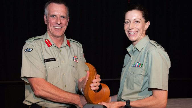 Lieutenant Colonel Melanie Childs picked up the honour on Friday (Photo / NZ Defence Force)