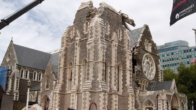 The Cathedral has been damaged since the 2011 earthquakr. (Photo/File)