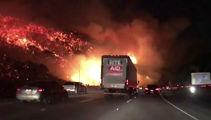 LA burns: Residents flee ferocious blaze