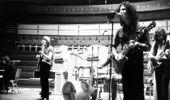 Jeremy Spencer, Danny Kirwan, Mick Fleetwood (hidden) Peter Green and John McVie of Fleetwood Mac during rehearsals. (Photo \ Getty Images)