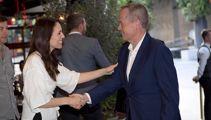 Jacinda Ardern and Australian opposition leader Bill Shortern meet in Auckland
